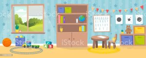 cartoon kindergarten classroom empty nest christian clipart kid interior academy drawer toys eagle eagles transferred