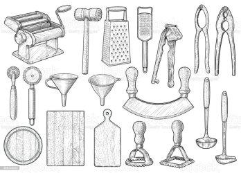 Ilustración de Equipo De Cocina Utensilios Accesorios