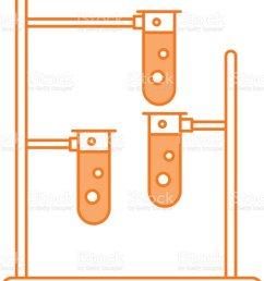 laboratory tube test with burner base illustration  [ 1024 x 1024 Pixel ]