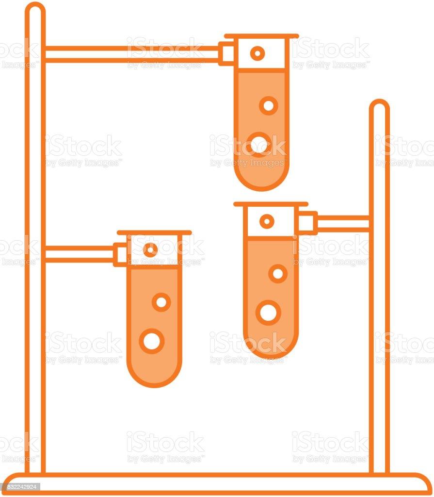 hight resolution of laboratory tube test with burner base illustration