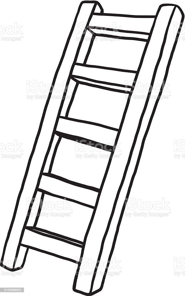 Ladder Stock Vector Art & More Images of Art 515359331