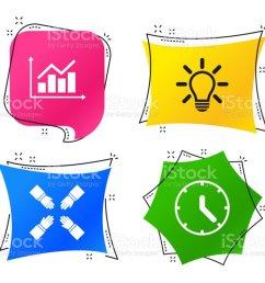 lamp idea and clock time graph chart diagram vector royalty free lamp idea [ 1024 x 829 Pixel ]
