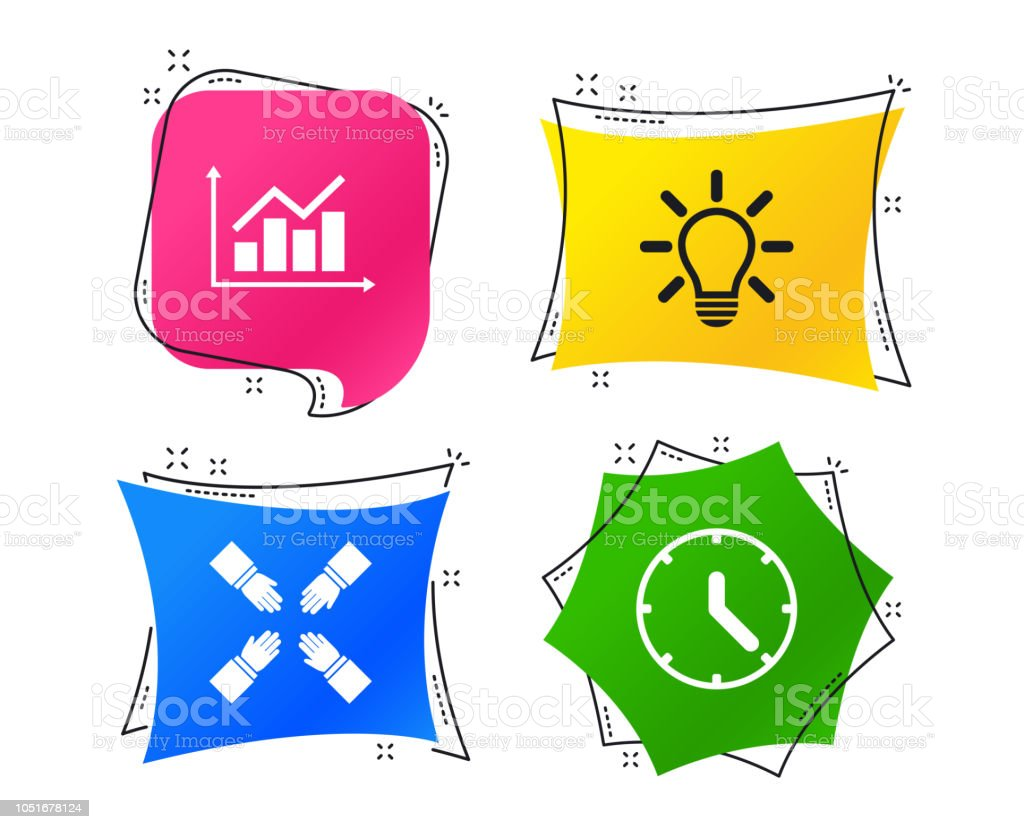 hight resolution of lamp idea and clock time graph chart diagram vector royalty free lamp idea