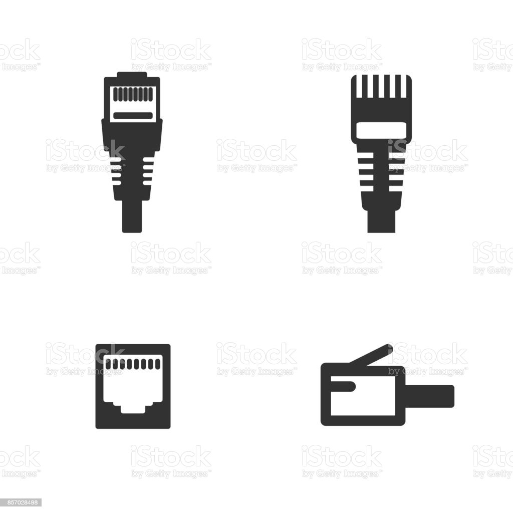 Lan Wire Cable Computer Icon Stock Vector Art & More