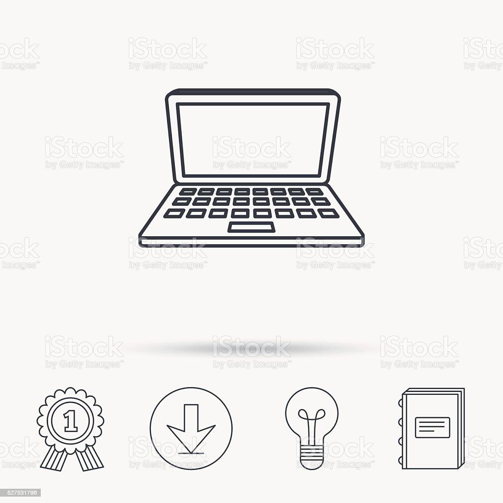 Icône Dordinateur Portable Panneau Pour Ordinateur