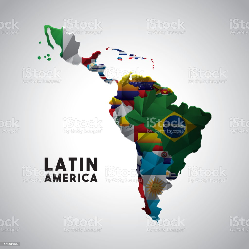 latin and south america map