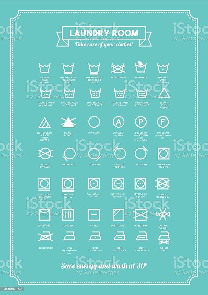 https www istockphoto com vector laundry symbols poster gm495387152 77958747