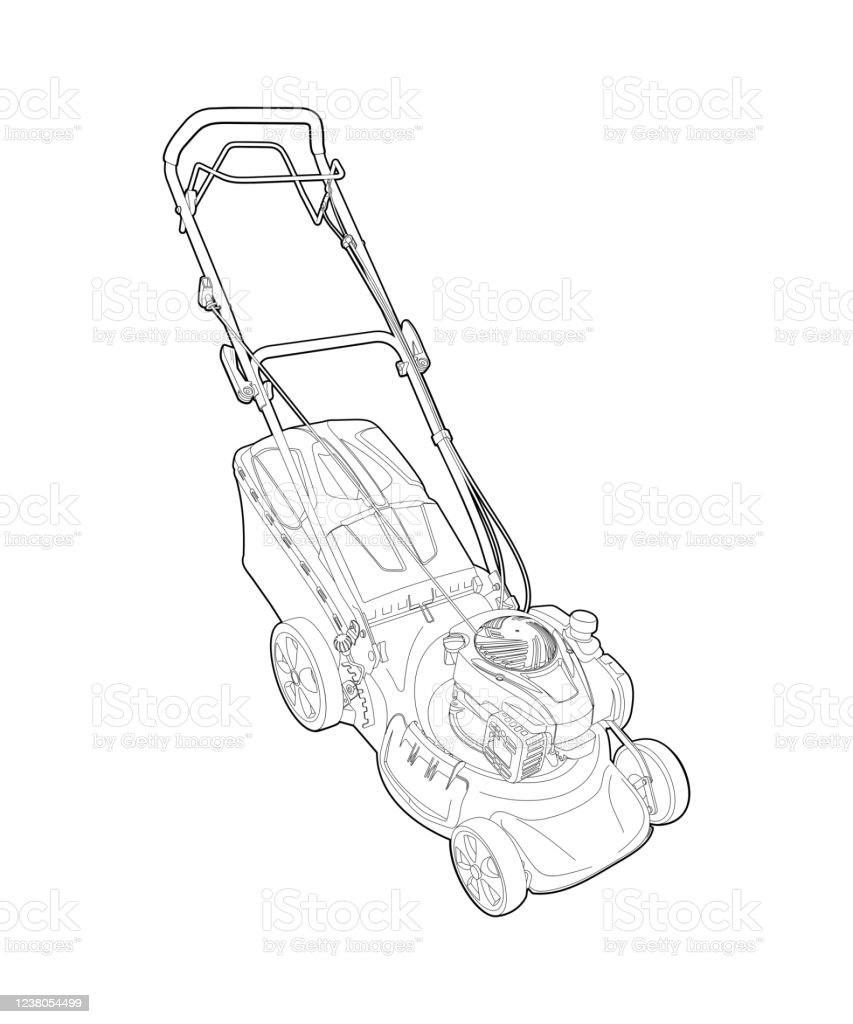 Lawn Mower Drawing / Over 4,158 lawn mower pictures to