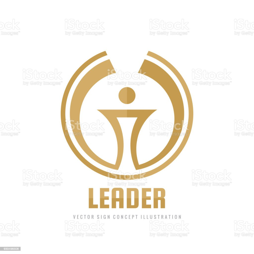 leader vector business sign