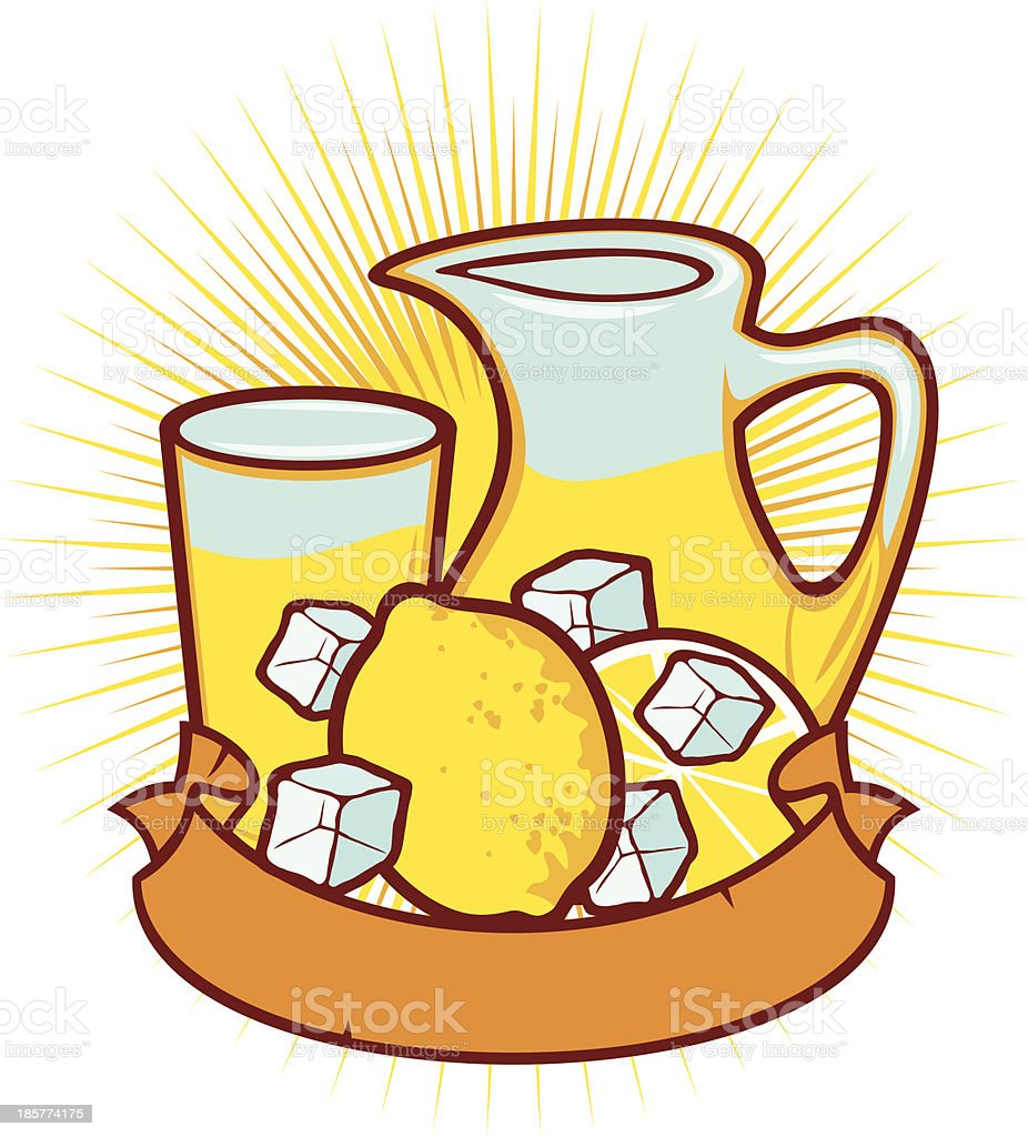royalty free lemonade pitcher clip