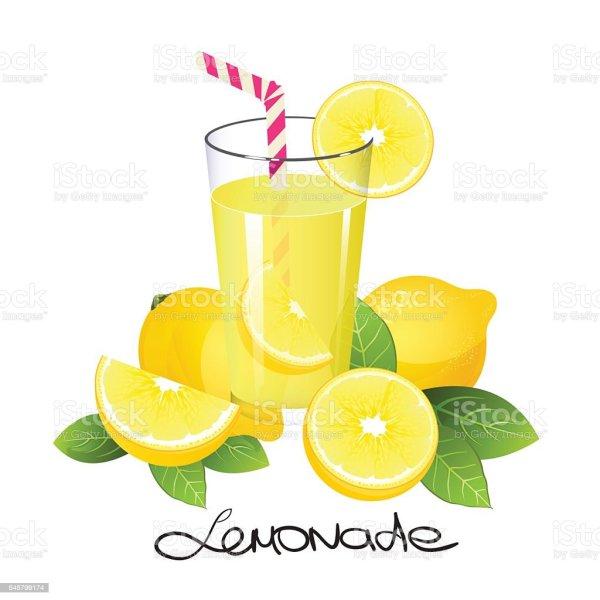 lemonade with lemon fruit slice