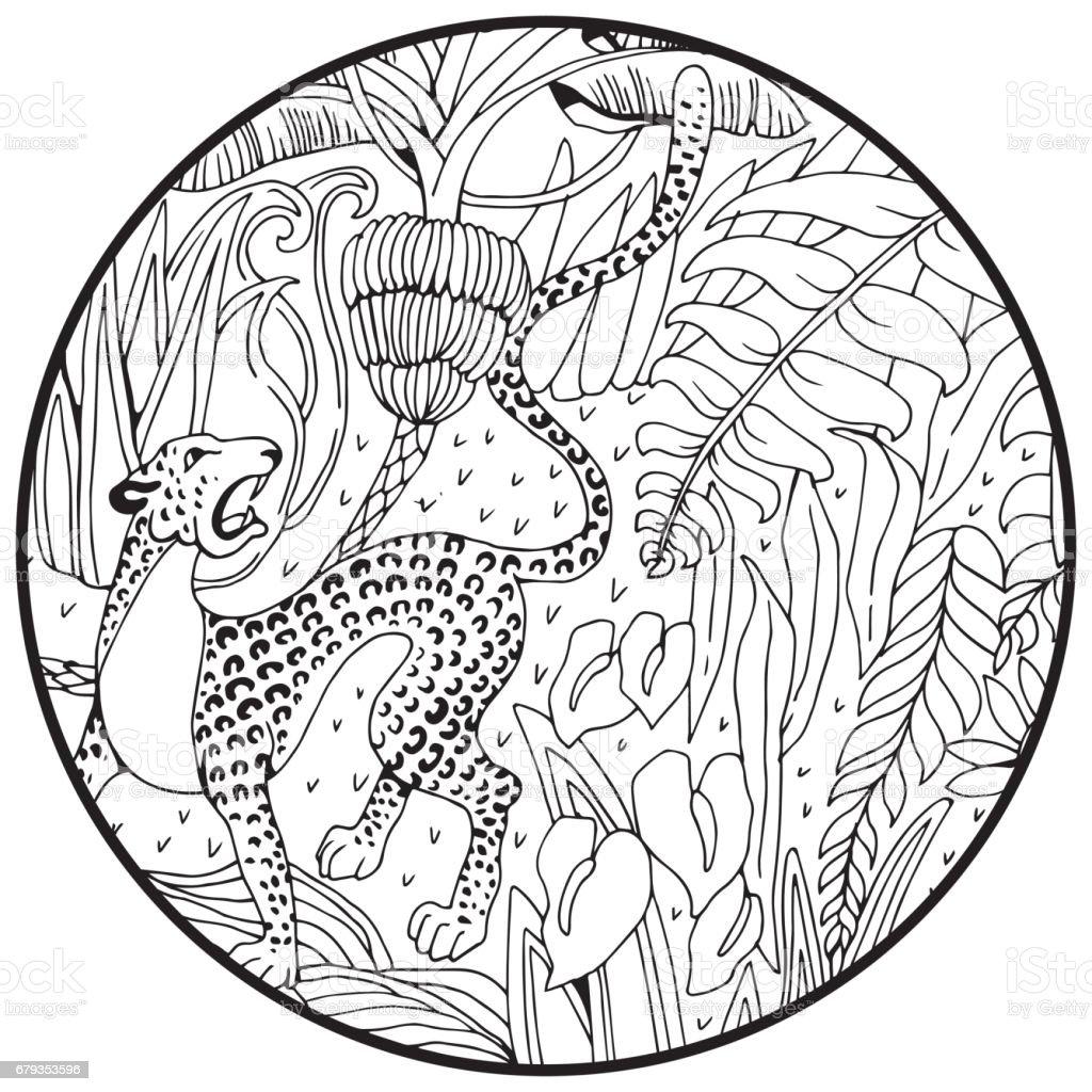Malvorlage Dschungel Blatt Coloring and Malvorlagan
