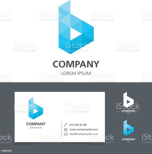 Letter Logo Design Element With Business Card