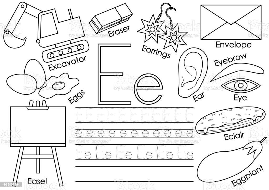 Letter E English Alphabet Educational Game For Children