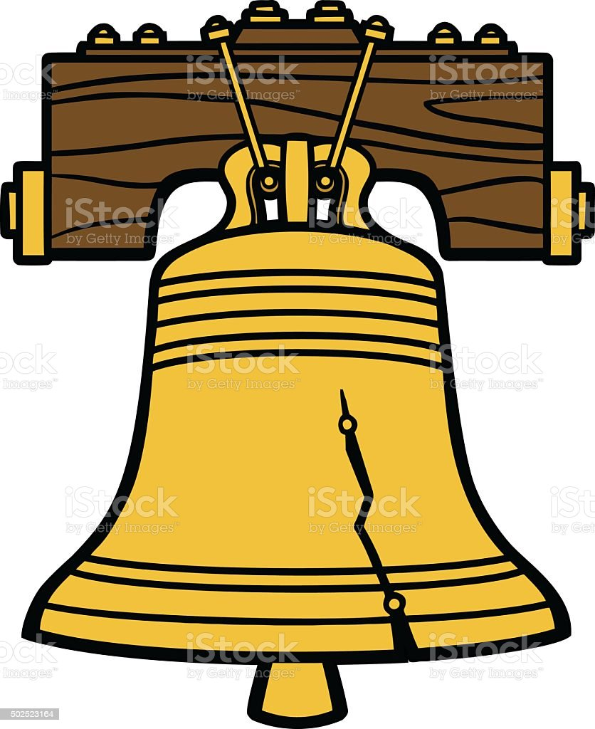 royalty free liberty bell clip