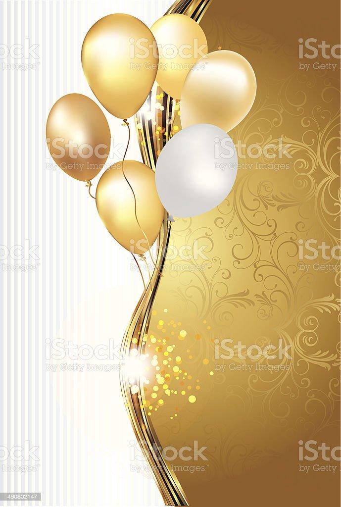 royalty free gold balloon clip