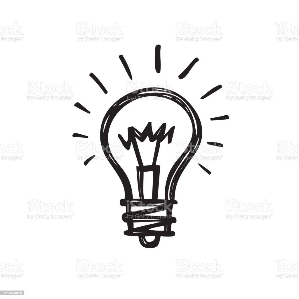 Lightbulb Creative Sketch Draw Vector Illustration