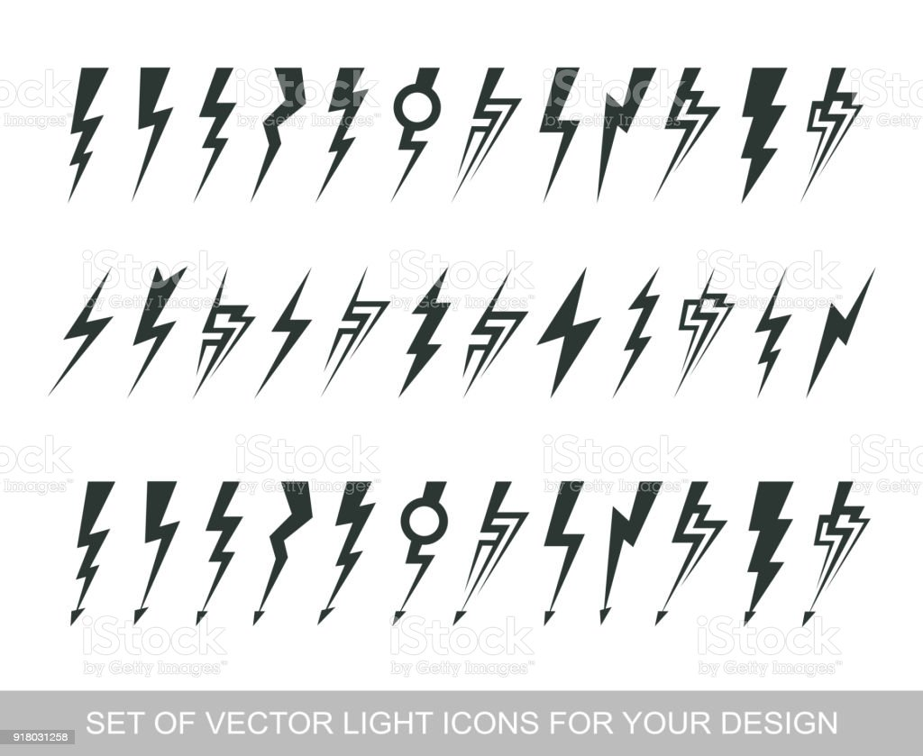 Lightning Electric Power Vector Design Element Energy And