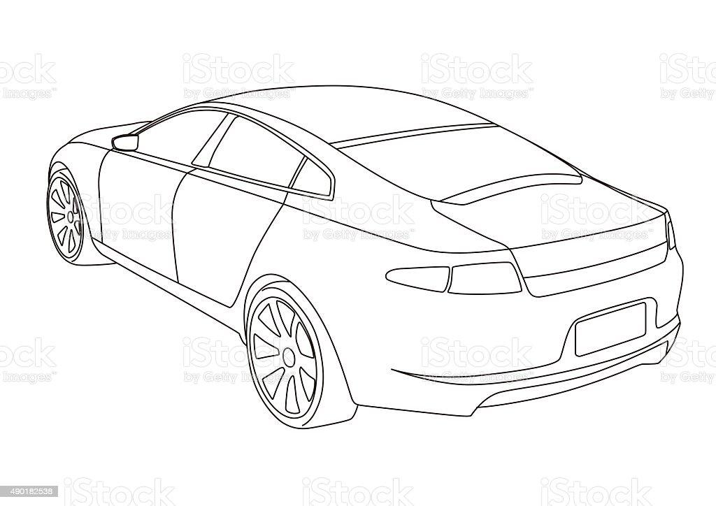 Line Drawing Car Illustration Stock Vector Art & More