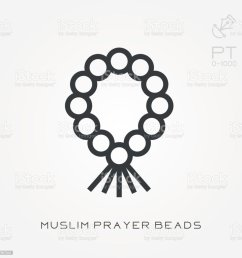 line icon muslim prayer beads royalty free line icon muslim prayer beads stock vector art [ 1024 x 1024 Pixel ]