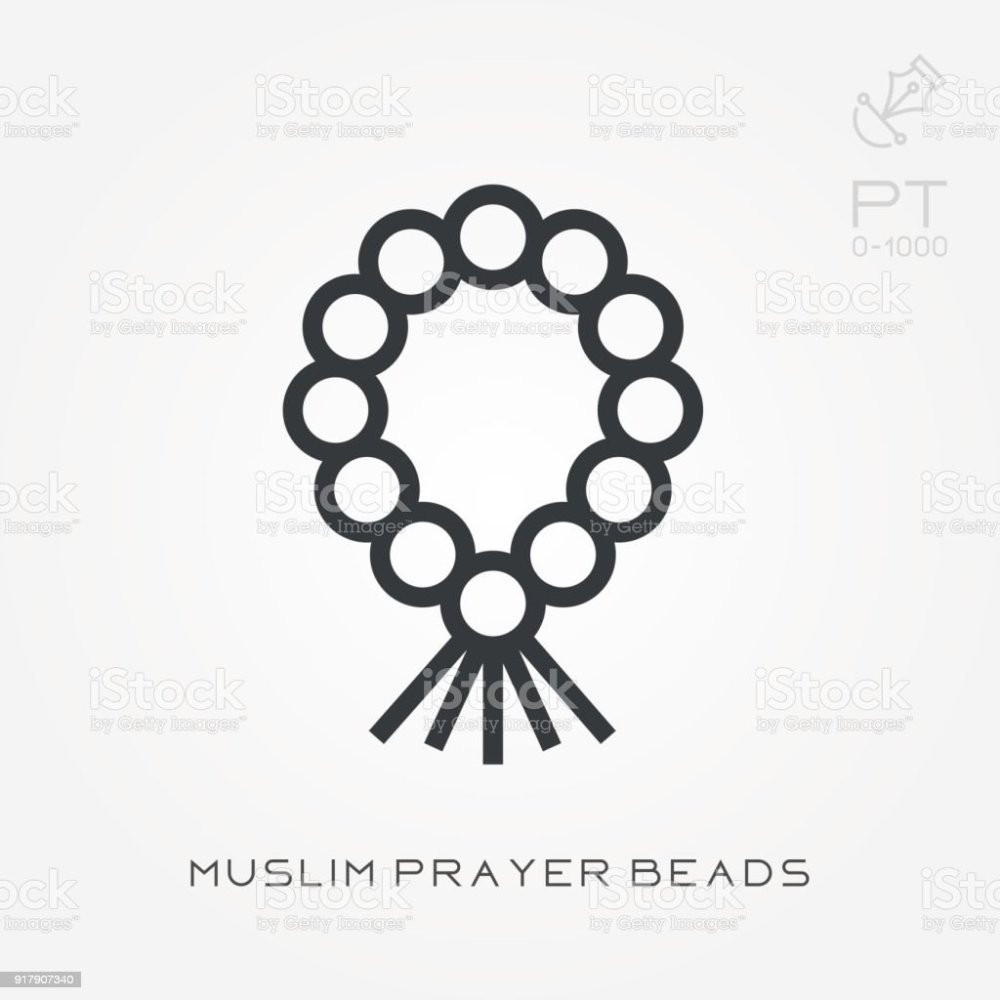 medium resolution of line icon muslim prayer beads royalty free line icon muslim prayer beads stock vector art