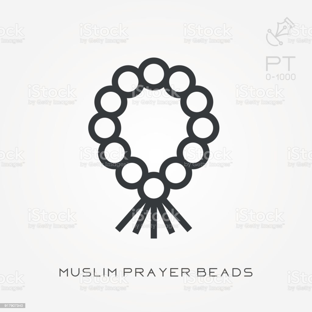 hight resolution of line icon muslim prayer beads royalty free line icon muslim prayer beads stock vector art