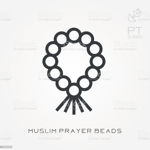 small resolution of line icon muslim prayer beads royalty free line icon muslim prayer beads stock vector art