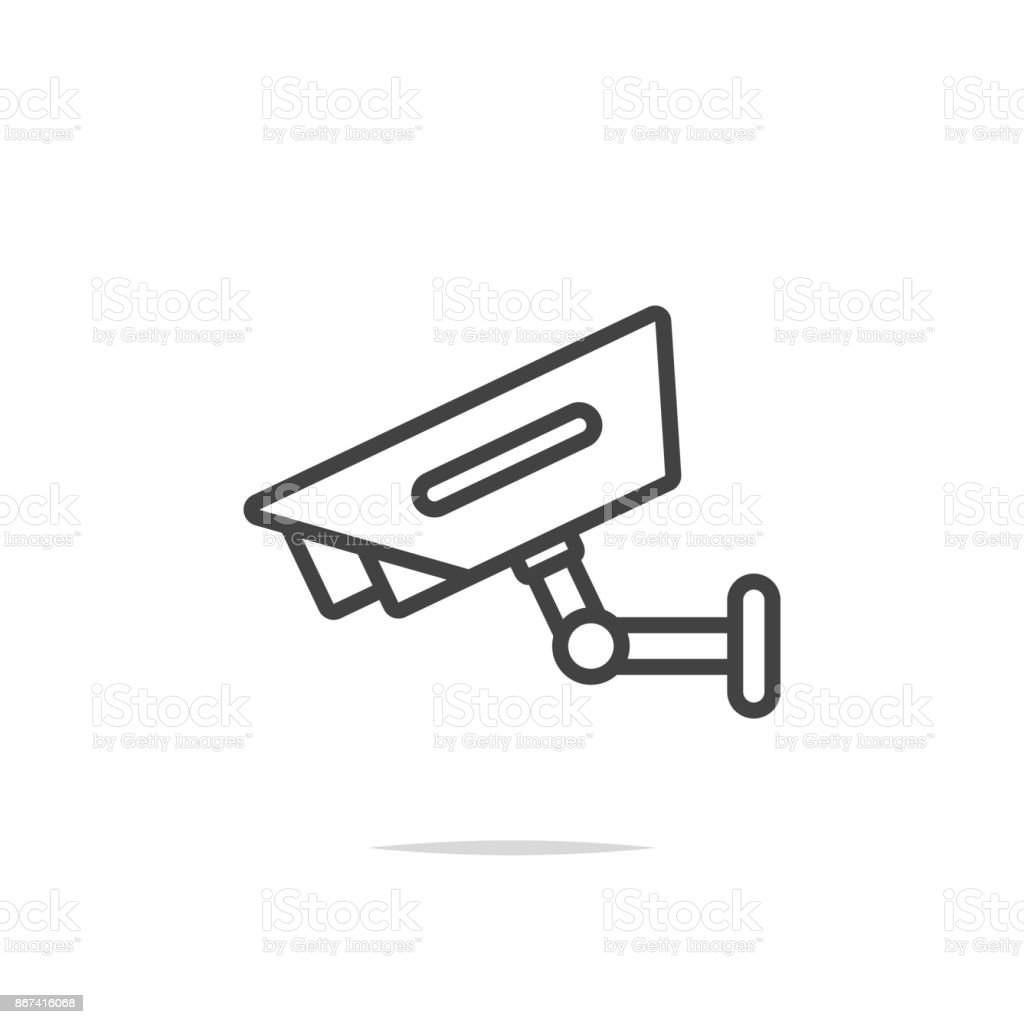 Cctv Line Icon Vector Stock Vector Art & More Images of