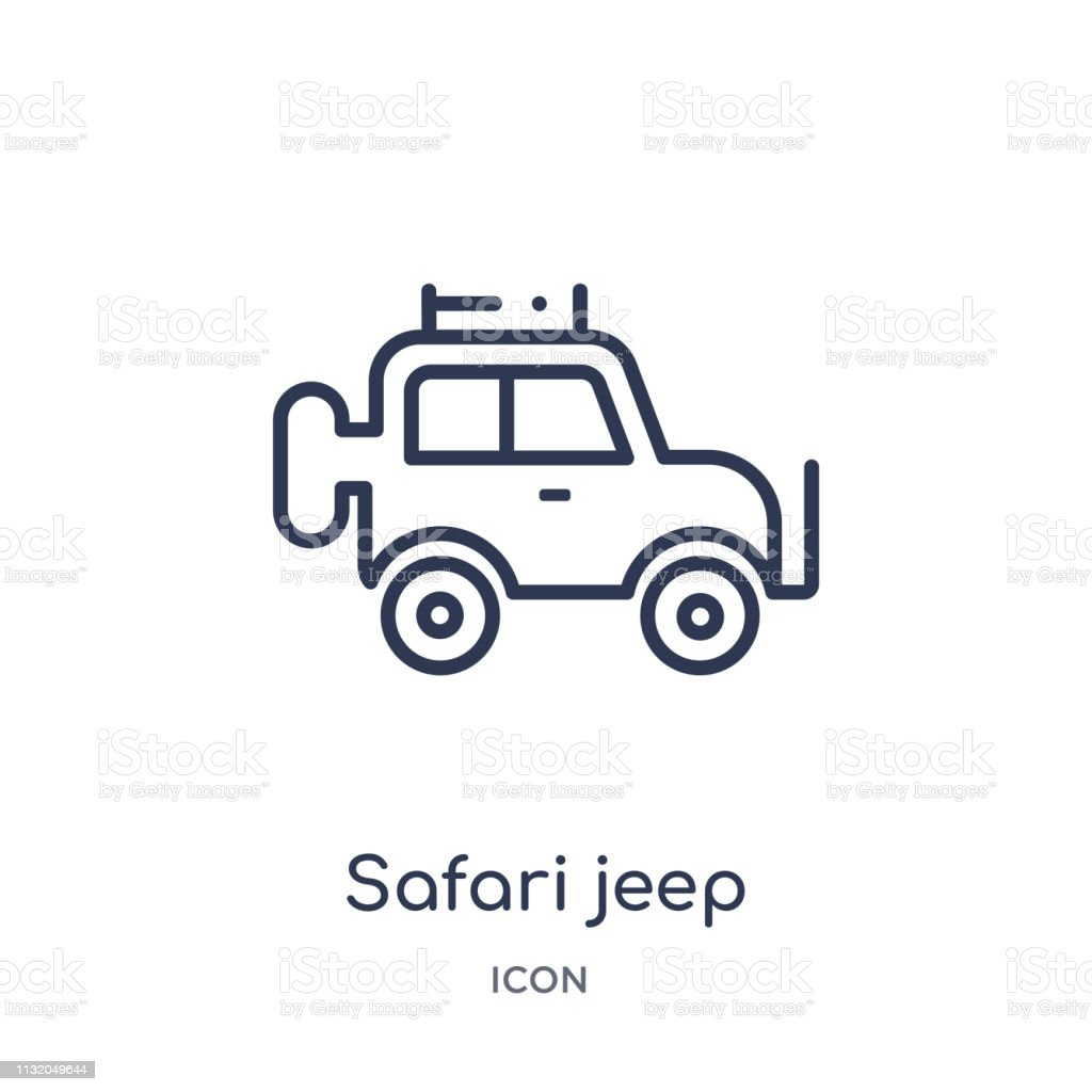 linear safari jeep icon