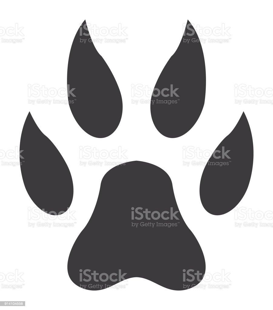 lion paw print icon