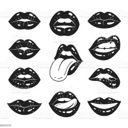 Lips Collection Stock Illustration Download Image Now iStock