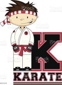 Ilustracin de Poco Karate Nio Aprendiendo Letra K y ms ...