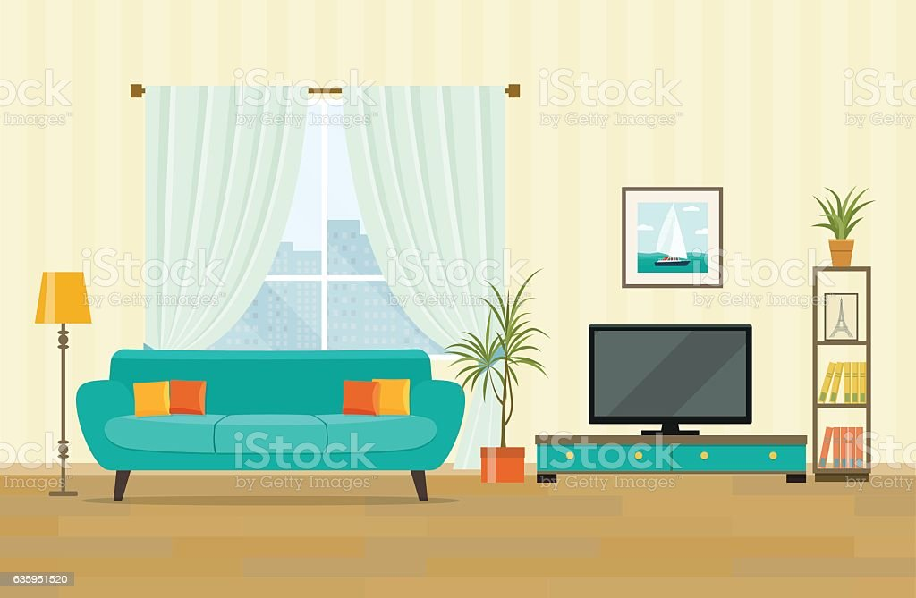 living room pictures clipart furniture prices royalty free clip art vector images illustrations interior design with flat style illustration
