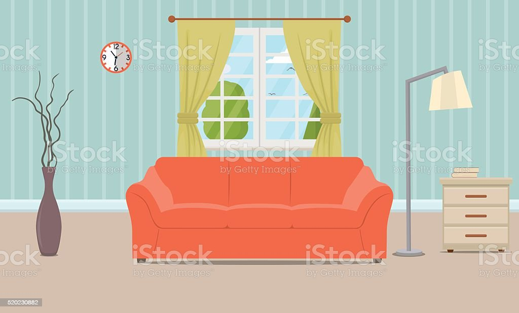 living room pictures clipart paint colors for rooms with dark brown furniture royalty free clip art vector images illustrations interior illustration