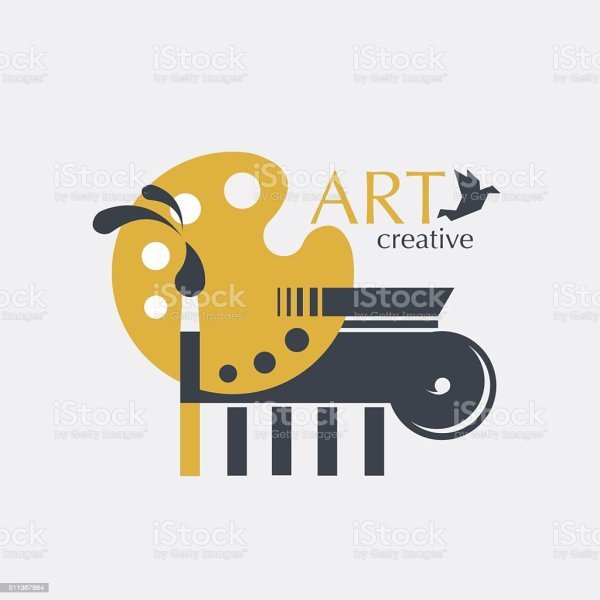 Logo Creativity And Art With Brush Palette Ionic