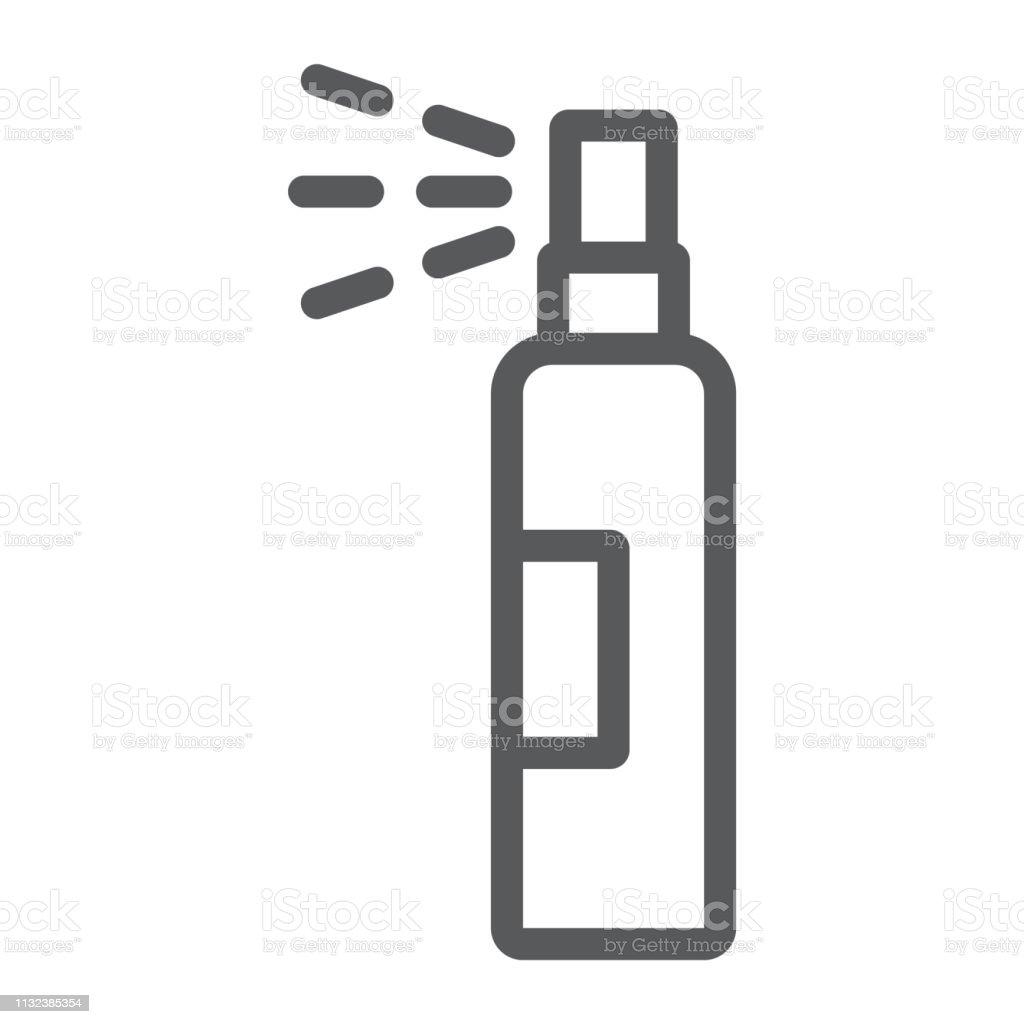 lotion spray line icon
