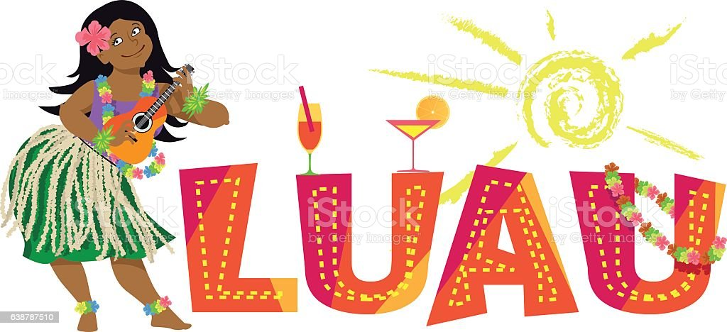 luau party illustrations