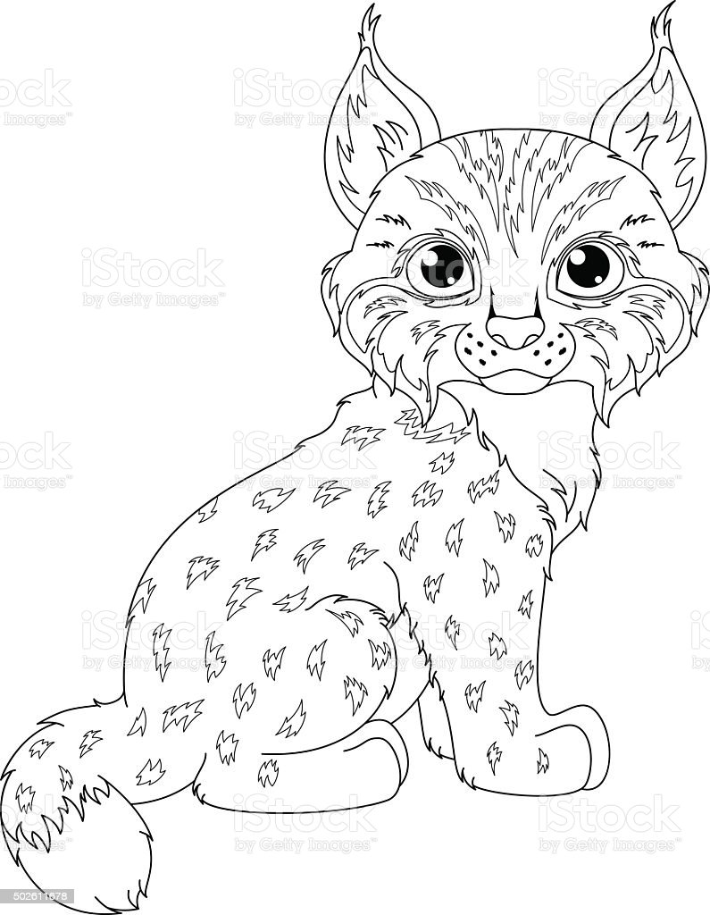 Lynx Coloriage Page