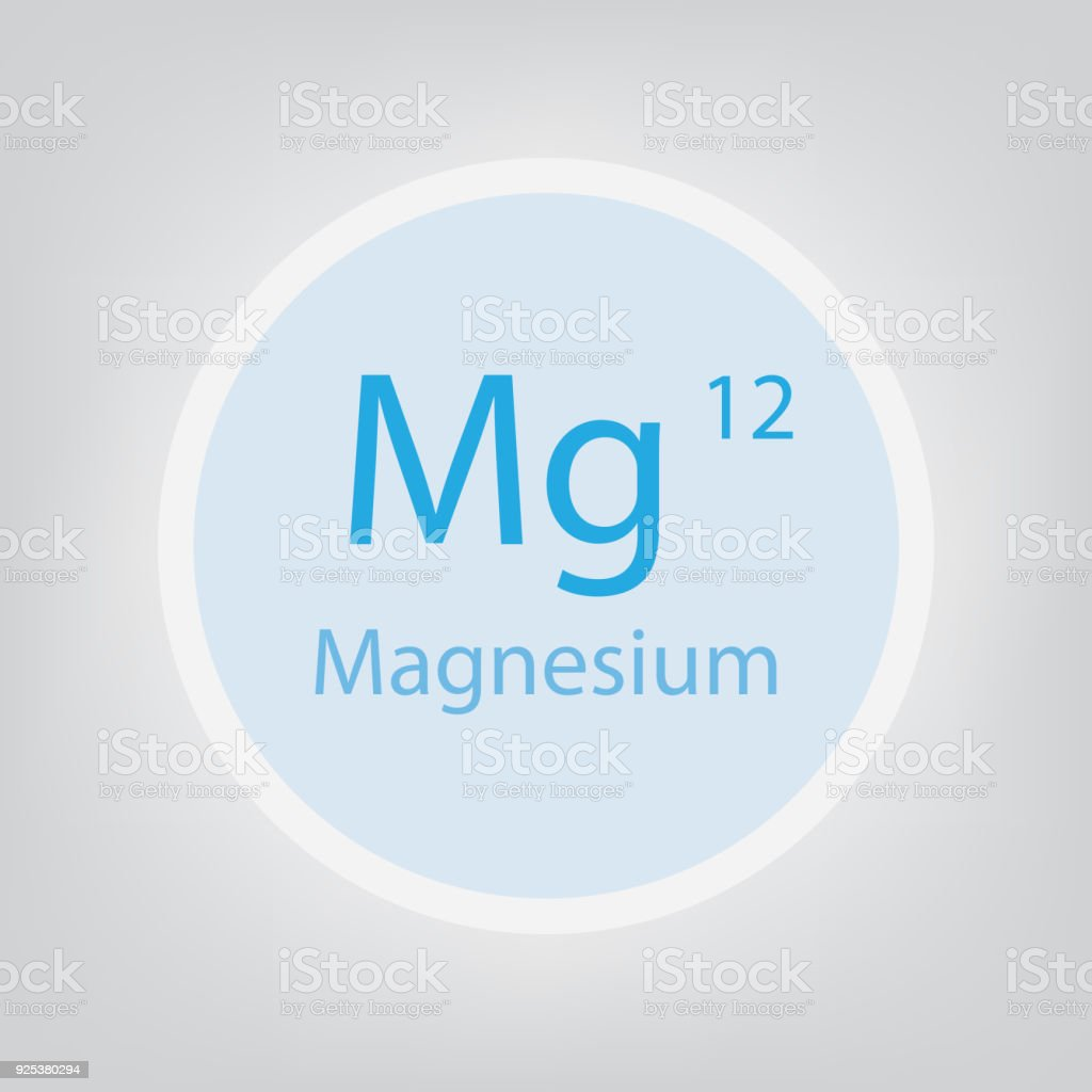 hight resolution of magnesium mg chemical element icon illustration