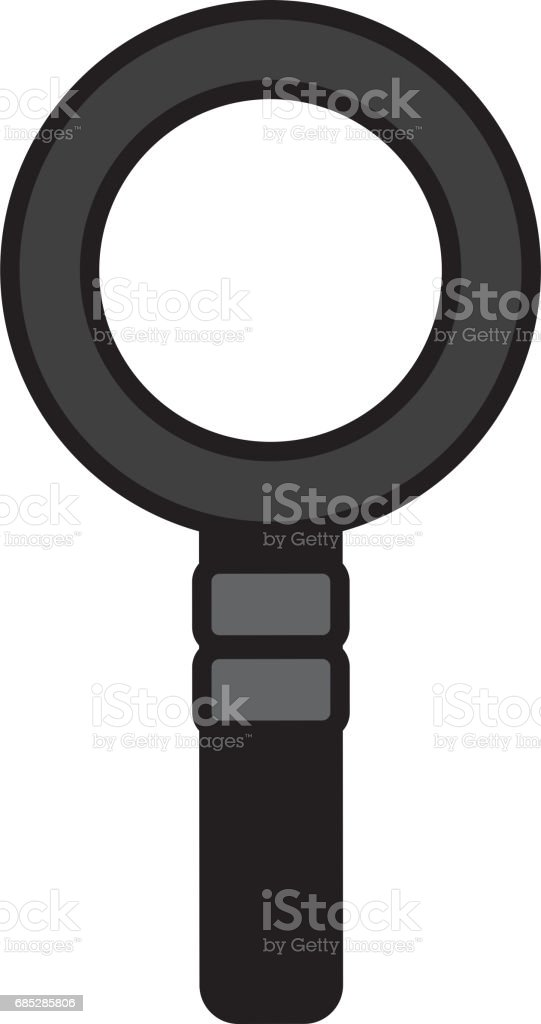 medium resolution of magnifying glass isolated icon royalty free magnifying glass isolated icon stock vector art amp