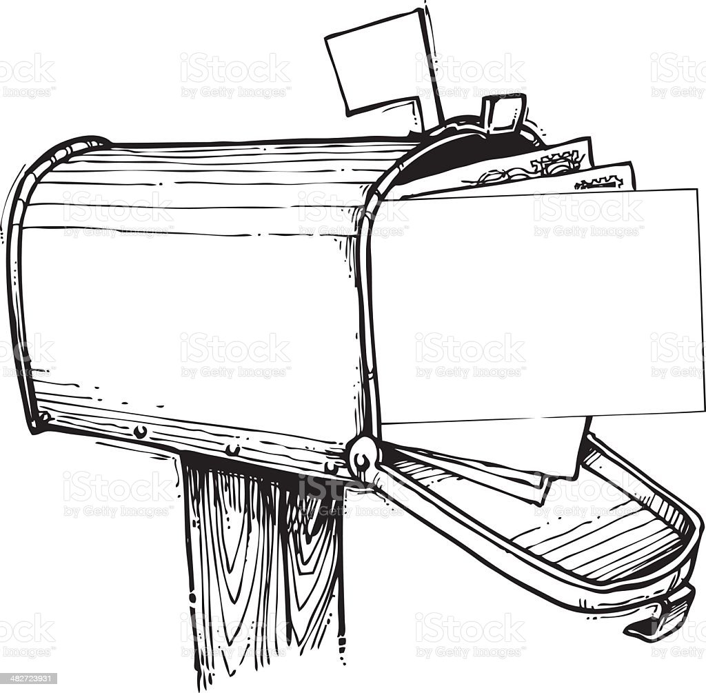 Mailbox Full Of Mail Stock Vector Art & More Images of