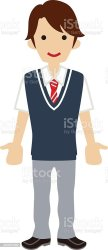 student clipart students highschool clip middle male vector uniform cliparts illustrations library graphic illustration similar working
