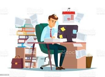294 Cartoon Of Messy Desk Illustrations Royalty Free Vector Graphics & Clip Art iStock
