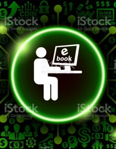 Man reading  book icon on money and cryptocurrency background royalty free also ebook stock rh istockphoto