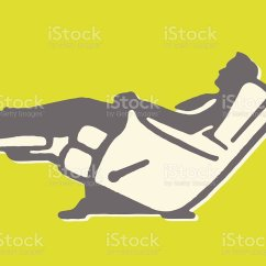 Two Person Recliner Chair Leather And A Half Sleeper Royalty Free Clip Art, Vector Images & Illustrations - Istock