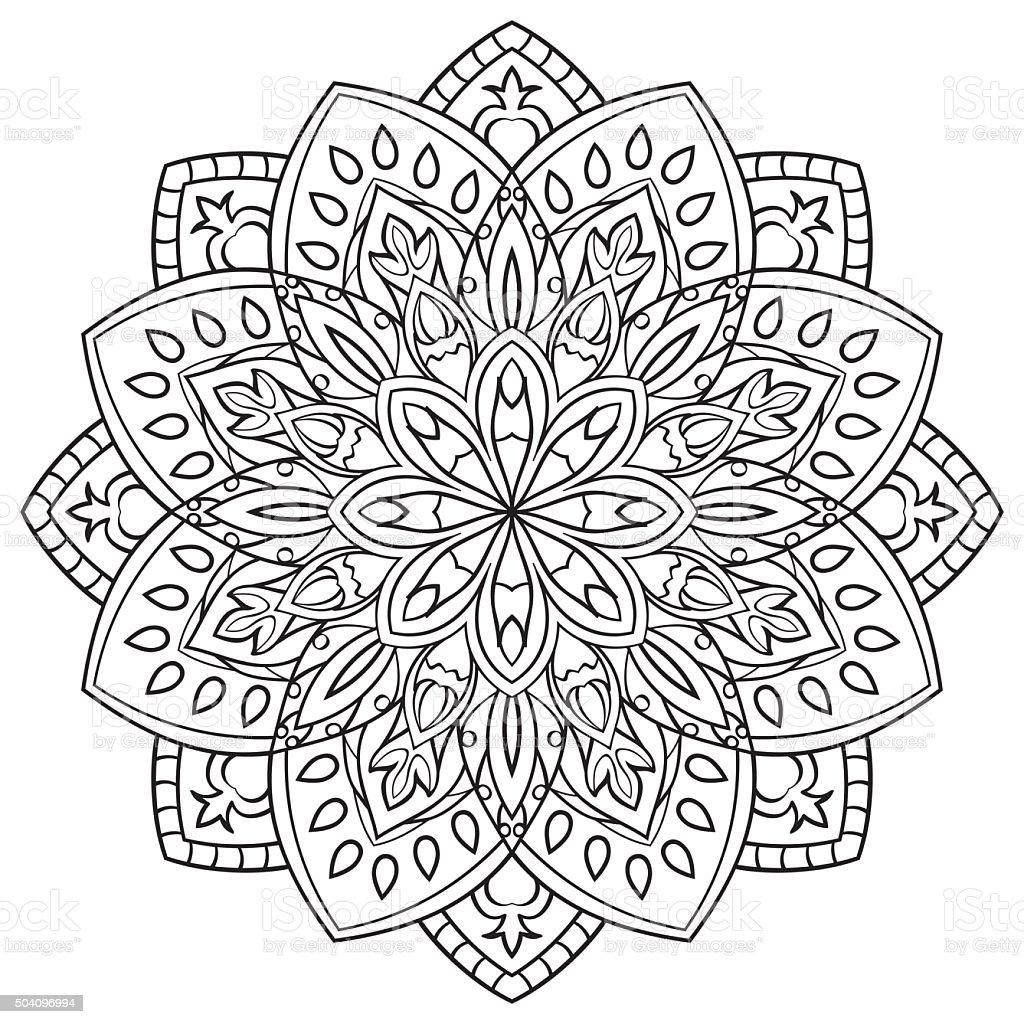 Ilustração de Mandala Para Livro De Colorir e mais banco