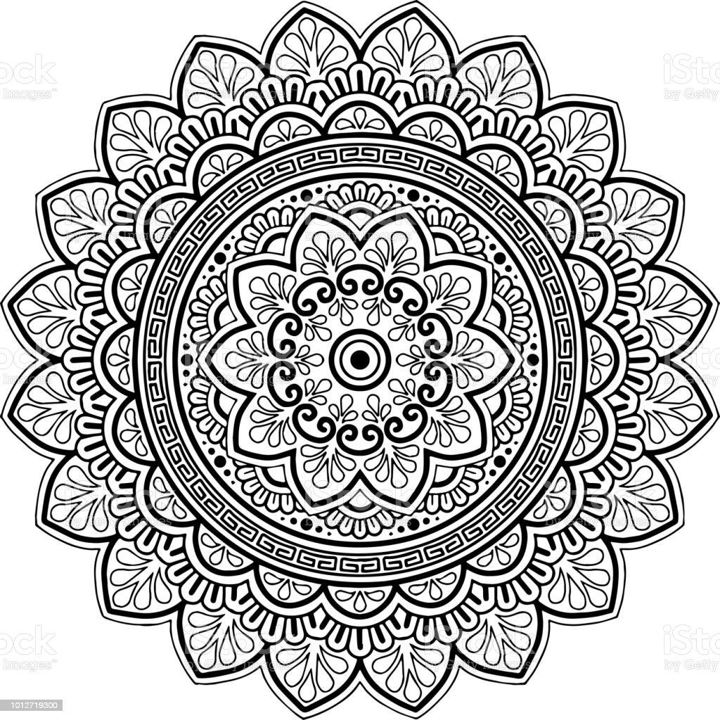 mandala pattern black and