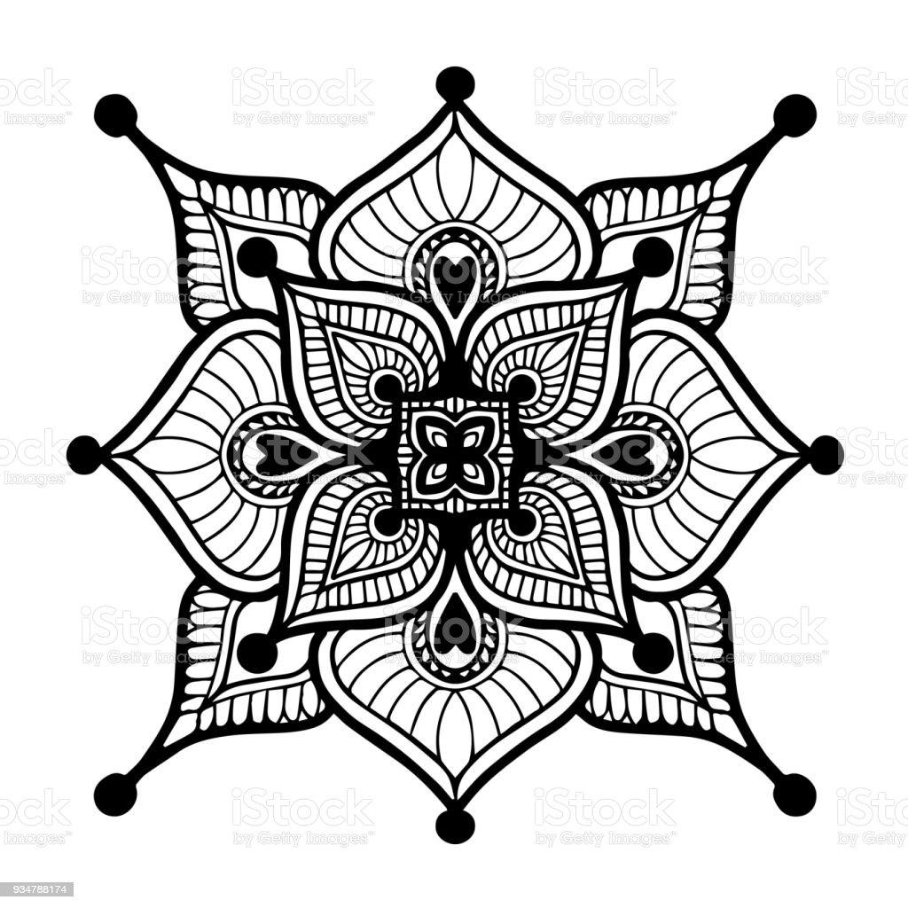 Mandalas For Coloring Book Decorative Round Ornaments