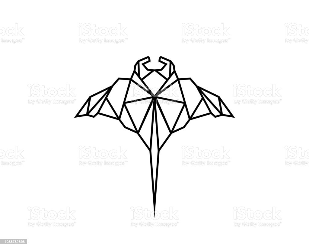 hight resolution of manta ray line royalty free manta ray line stock illustration download image now