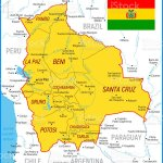 Map Of Bolivia High Detailed Orange Vector Map With Borders And Rivers Stock Illustration Download Image Now Istock